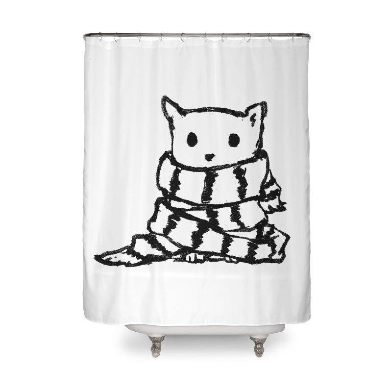 Keep Me Warm Home Shower Curtain by Fox Shiver's Artist Shop