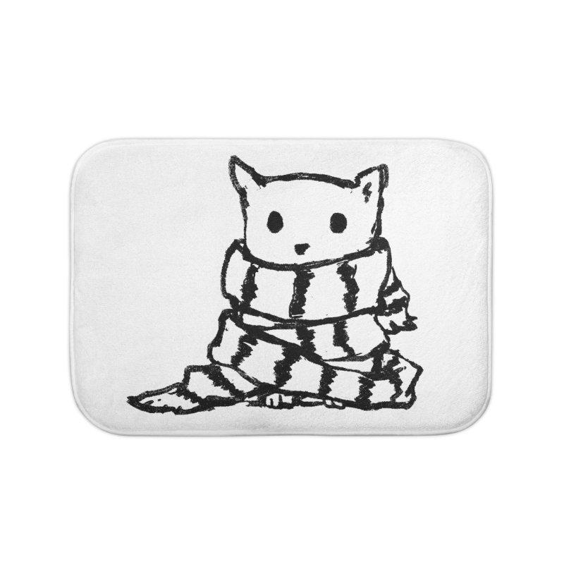 Keep Me Warm Home Bath Mat by Fox Shiver's Artist Shop