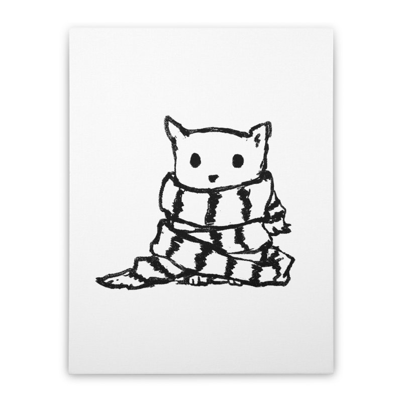 Keep Me Warm Home Stretched Canvas by Fox Shiver's Artist Shop