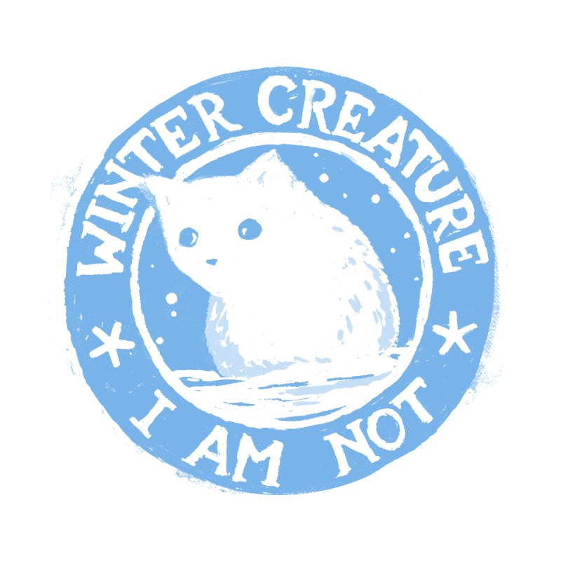 Winter Creature I Am Not Men's T-Shirt by Fox Shiver's Artist Shop