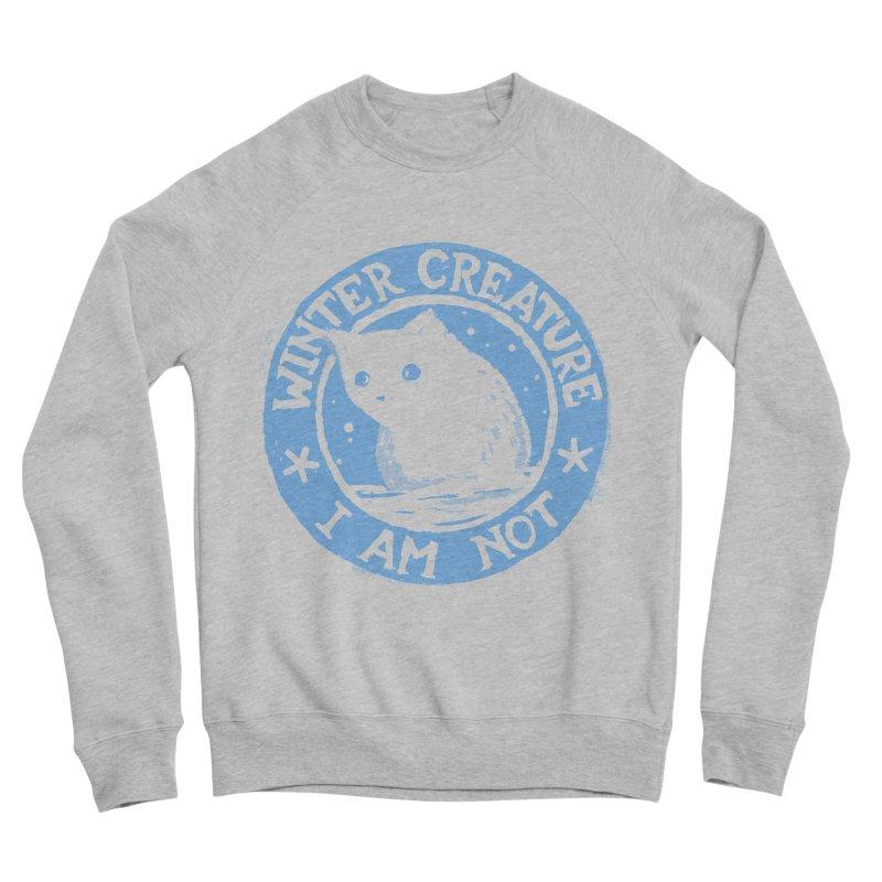 Winter Creature I Am Not Men's Sponge Fleece Sweatshirt by Fox Shiver's Artist Shop