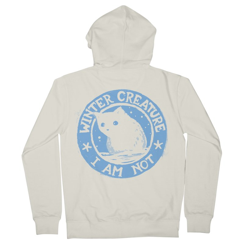 Winter Creature I Am Not Men's French Terry Zip-Up Hoody by Fox Shiver's Artist Shop
