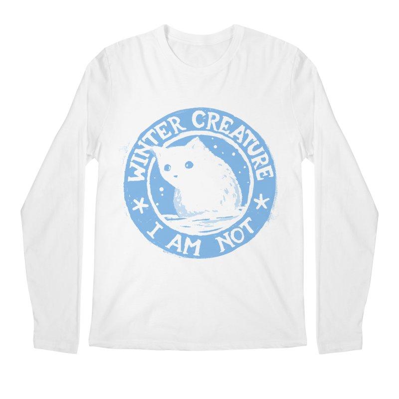Winter Creature I Am Not Men's Regular Longsleeve T-Shirt by Fox Shiver's Artist Shop