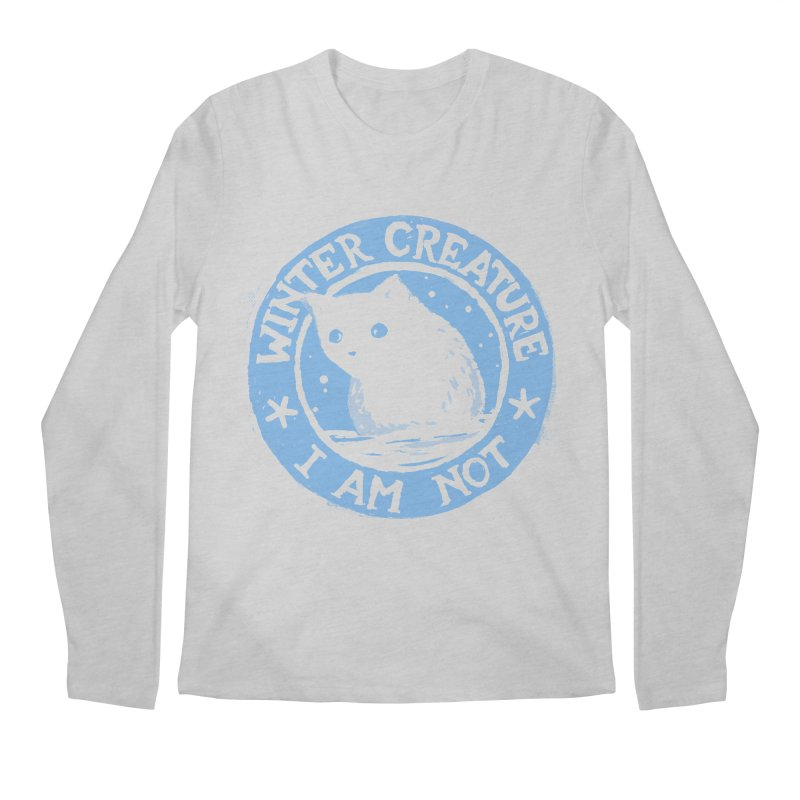 Winter Creature I Am Not Men's Longsleeve T-Shirt by Fox Shiver's Artist Shop