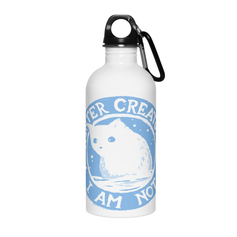 Winter Creature I Am Not Accessories Water Bottle by Fox Shiver's Artist Shop
