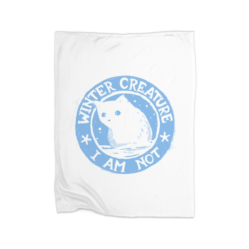 Winter Creature I Am Not Home Blanket by Fox Shiver's Artist Shop