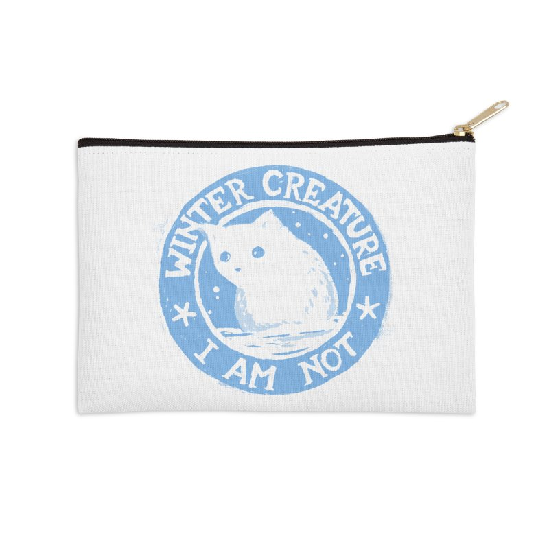 Winter Creature I Am Not Accessories Zip Pouch by Fox Shiver's Artist Shop
