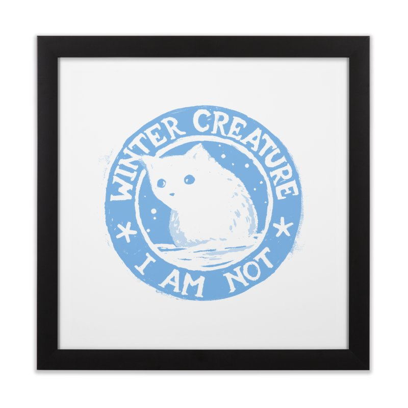 Winter Creature I Am Not Home Framed Fine Art Print by Fox Shiver's Artist Shop