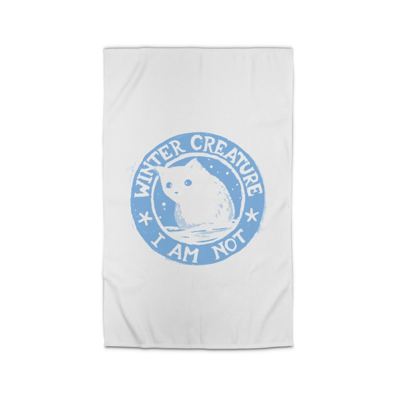 Winter Creature I Am Not Home Rug by Fox Shiver's Artist Shop
