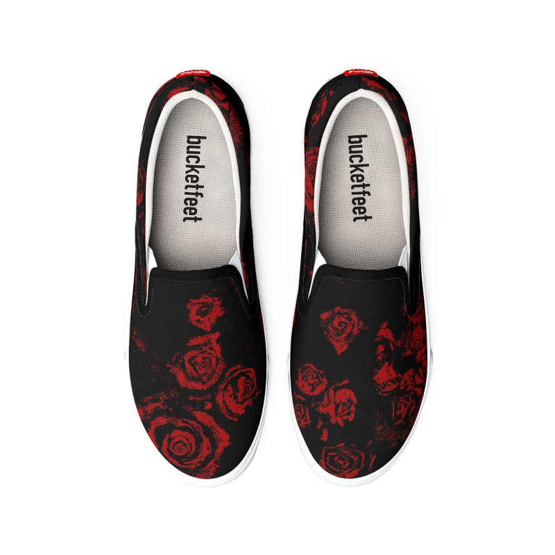 Dark Red Men's Shoes by Fox Shiver