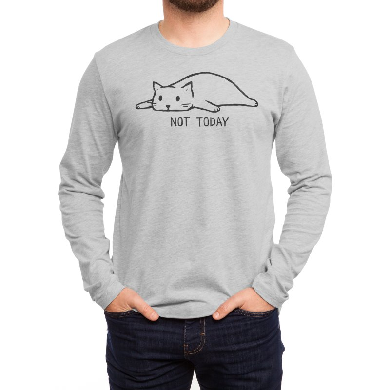 Not Today Men's Longsleeve T-Shirt by Fox Shiver
