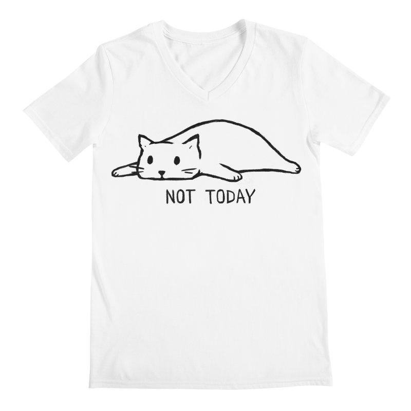 Not Today Men's Regular V-Neck by Fox Shiver's Artist Shop