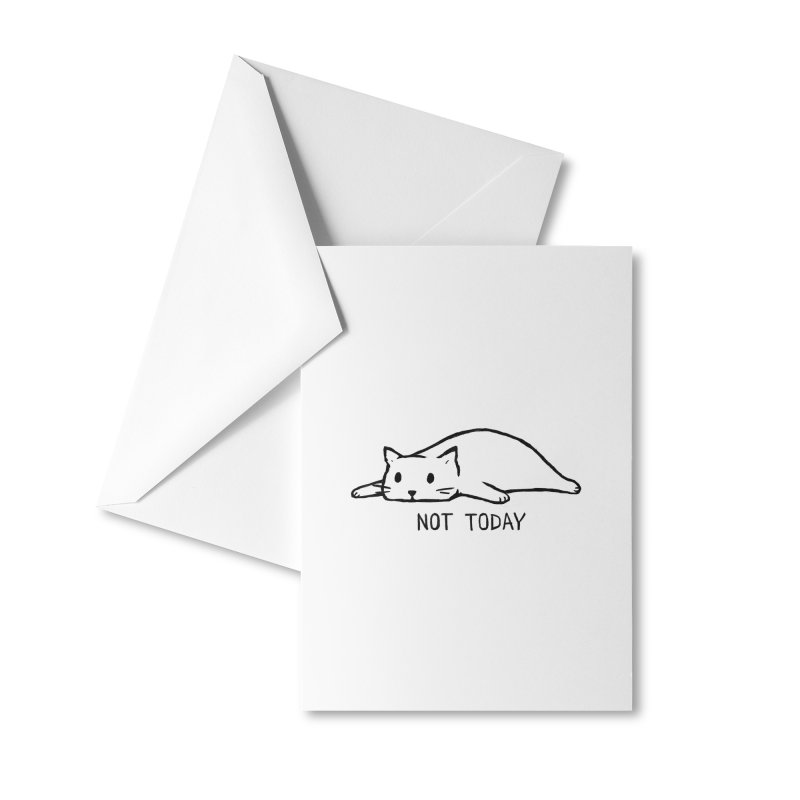 Not Today Accessories Greeting Card by Fox Shiver
