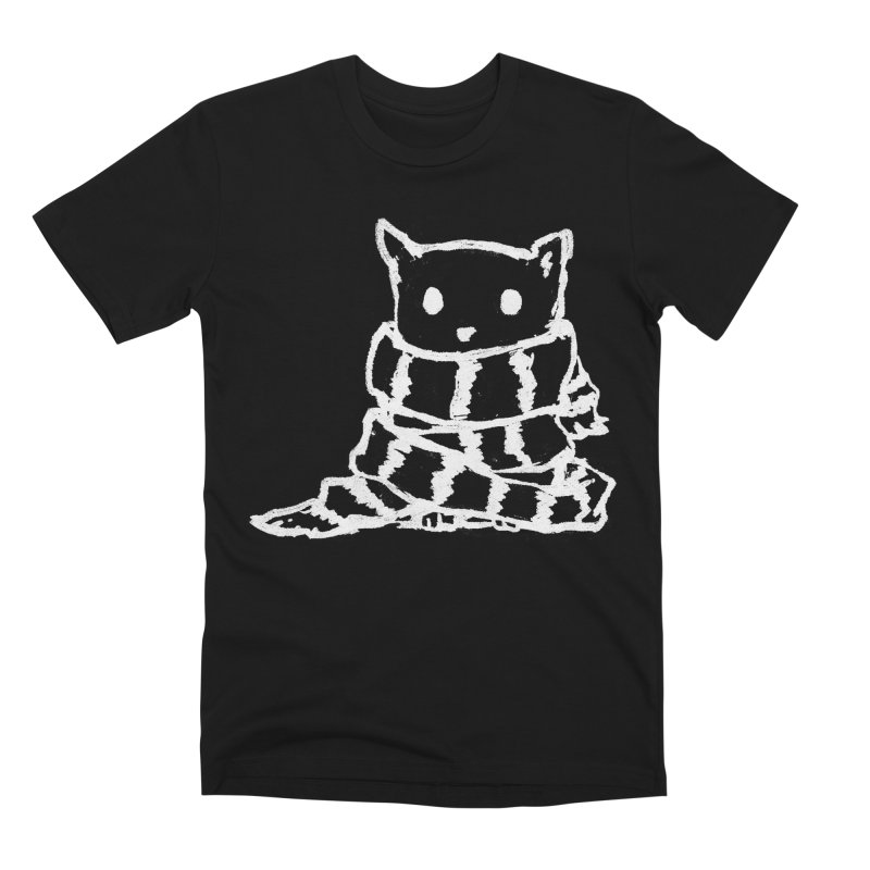 Keep Me Warm (Black) Men's Premium T-Shirt by Fox Shiver's Artist Shop