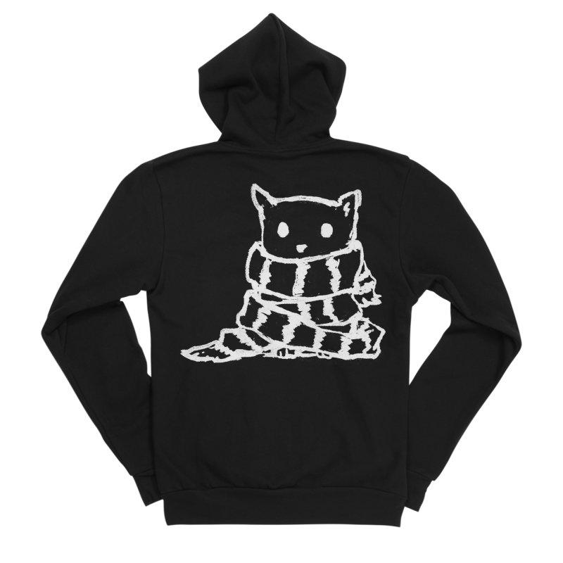 Keep Me Warm (Black) Women's Sponge Fleece Zip-Up Hoody by Fox Shiver's Artist Shop