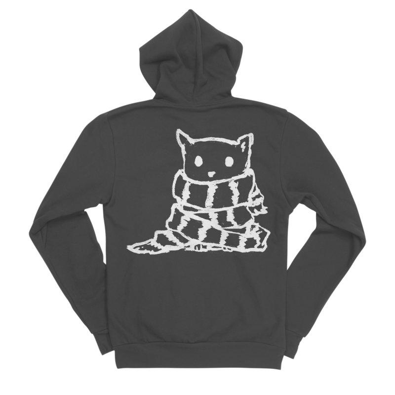 Keep Me Warm (Black) Men's Sponge Fleece Zip-Up Hoody by Fox Shiver's Artist Shop