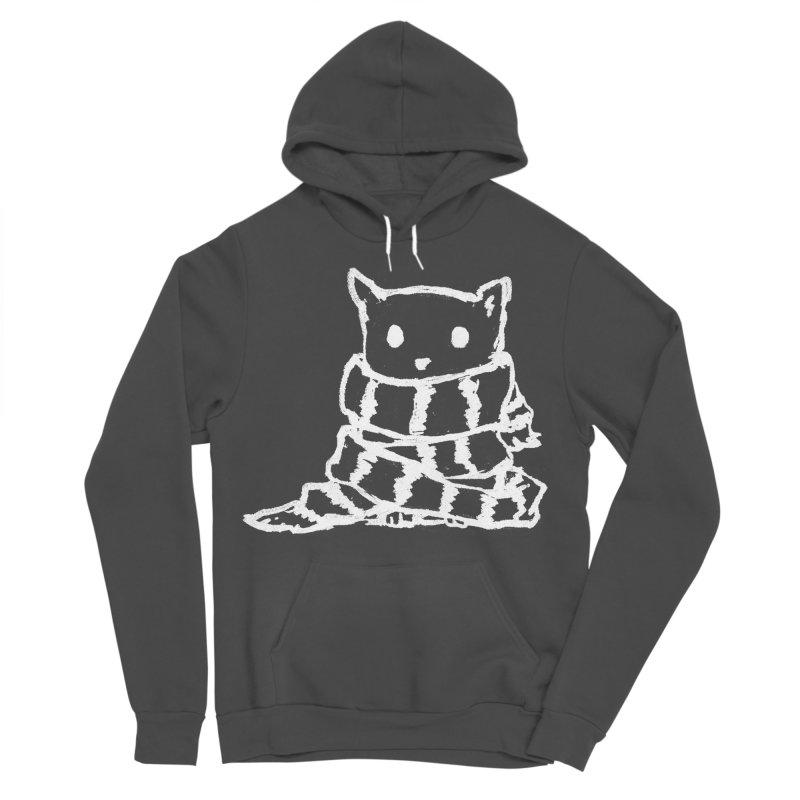 Keep Me Warm (Black) Women's Sponge Fleece Pullover Hoody by Fox Shiver's Artist Shop