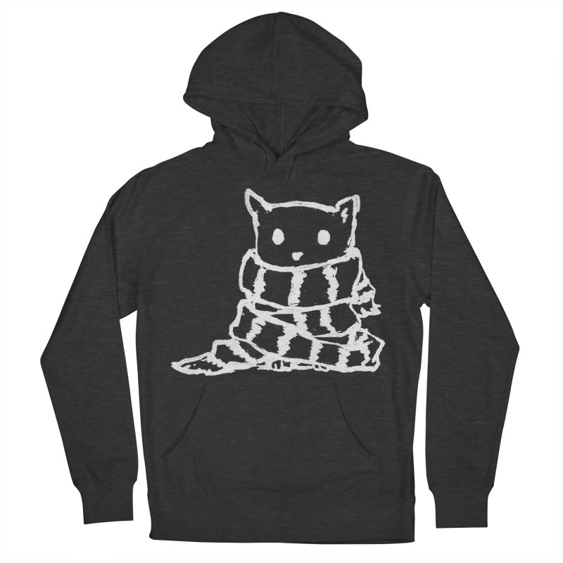 Keep Me Warm (Black) Men's French Terry Pullover Hoody by Fox Shiver's Artist Shop