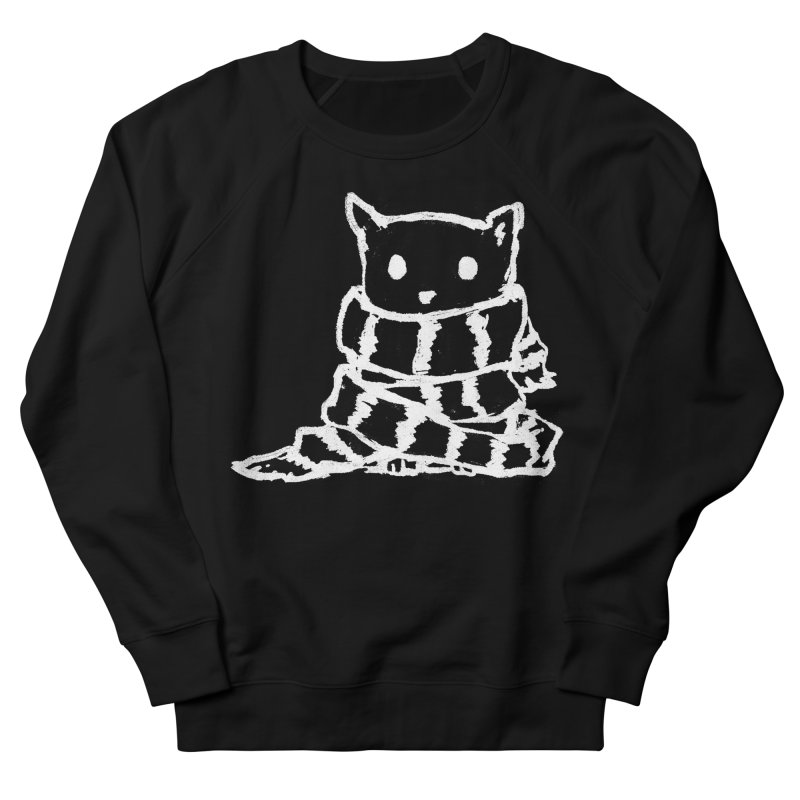 Keep Me Warm (Black) Women's French Terry Sweatshirt by Fox Shiver's Artist Shop