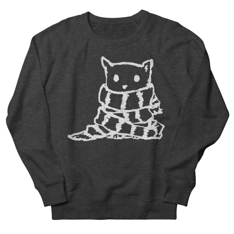 Keep Me Warm (Black) Men's French Terry Sweatshirt by Fox Shiver's Artist Shop
