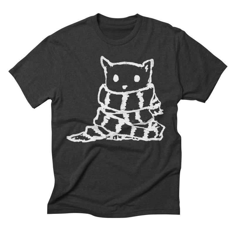 Keep Me Warm (Black) Men's Triblend T-Shirt by Fox Shiver's Artist Shop