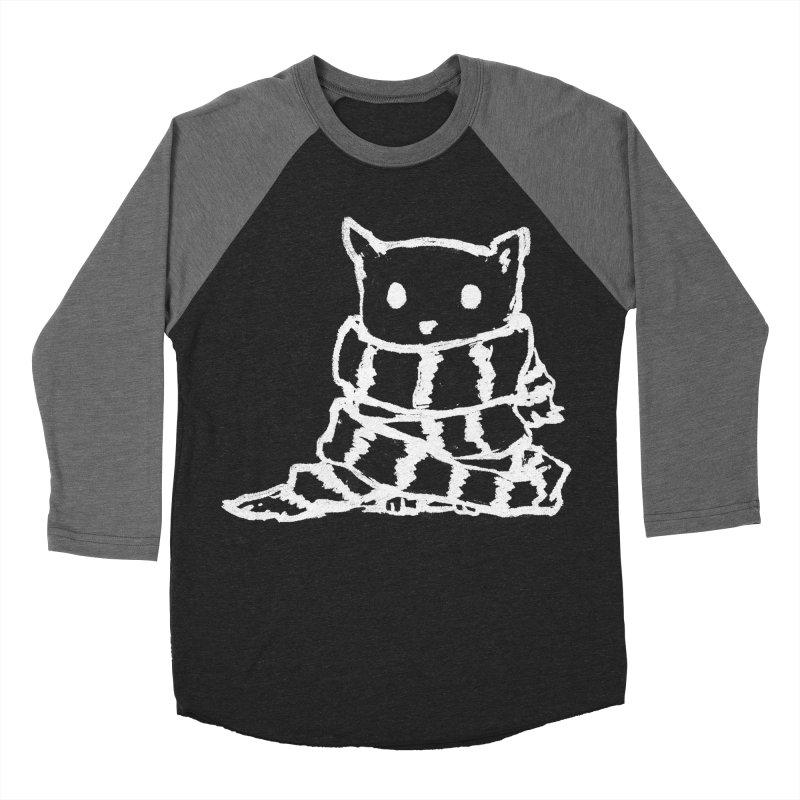 Keep Me Warm (Black) Men's Baseball Triblend Longsleeve T-Shirt by Fox Shiver's Artist Shop