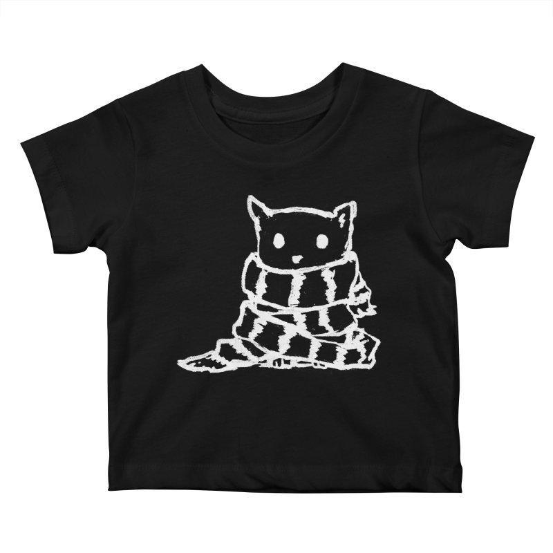 Keep Me Warm (Black) Kids Baby T-Shirt by Fox Shiver's Artist Shop