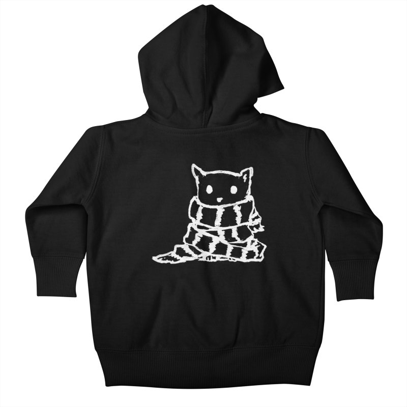 Keep Me Warm (Black) Kids Baby Zip-Up Hoody by Fox Shiver's Artist Shop