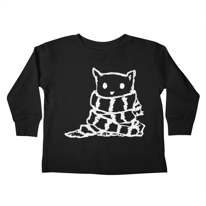 Keep Me Warm (Black) Kids Toddler Longsleeve T-Shirt by Fox Shiver's Artist Shop