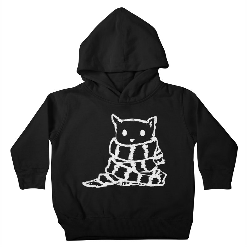 Keep Me Warm (Black) Kids Toddler Pullover Hoody by Fox Shiver's Artist Shop