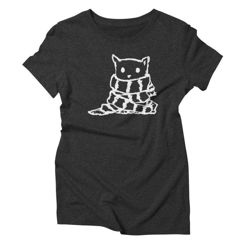 Keep Me Warm (Black) Women's Triblend T-Shirt by Fox Shiver's Artist Shop
