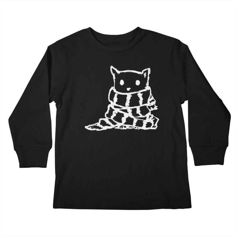 Keep Me Warm (Black) Kids Longsleeve T-Shirt by Fox Shiver's Artist Shop