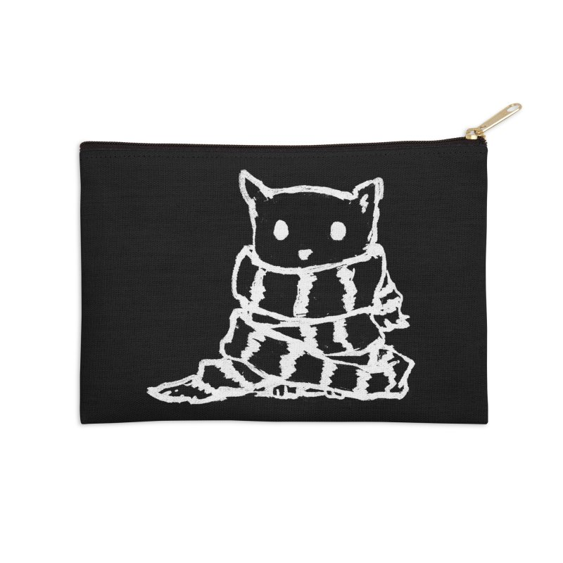 Keep Me Warm (Black) Accessories Zip Pouch by Fox Shiver's Artist Shop