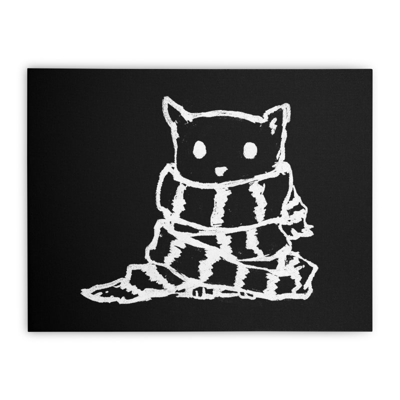 Keep Me Warm (Black) Home Stretched Canvas by Fox Shiver's Artist Shop