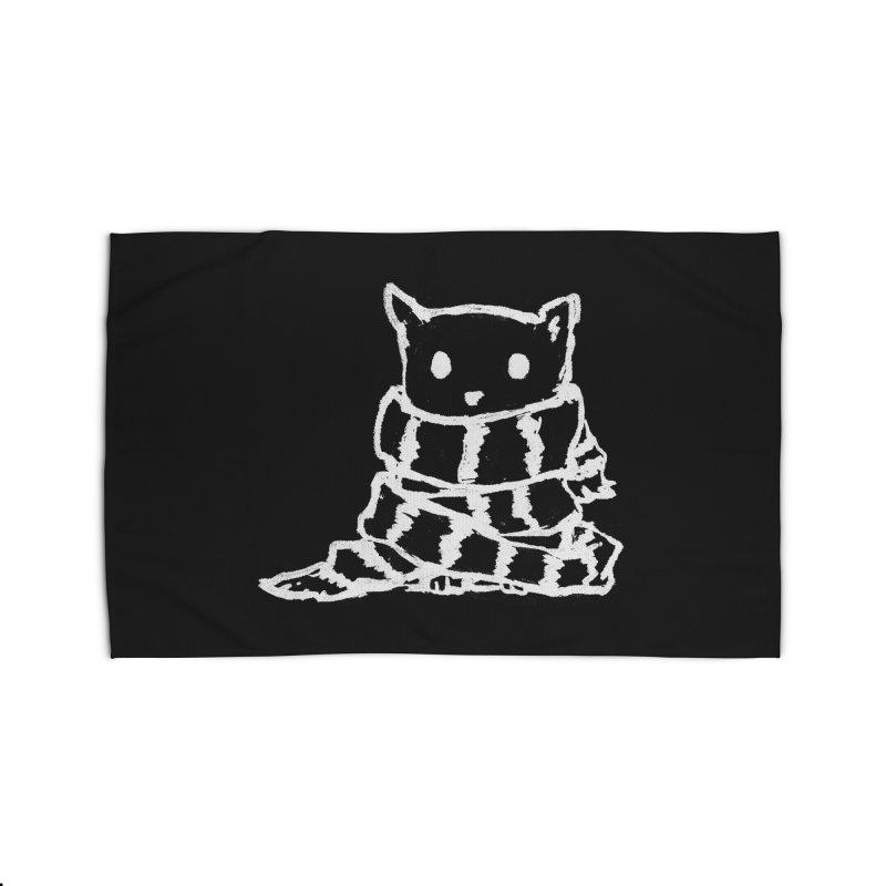 Keep Me Warm (Black) Home Rug by Fox Shiver's Artist Shop