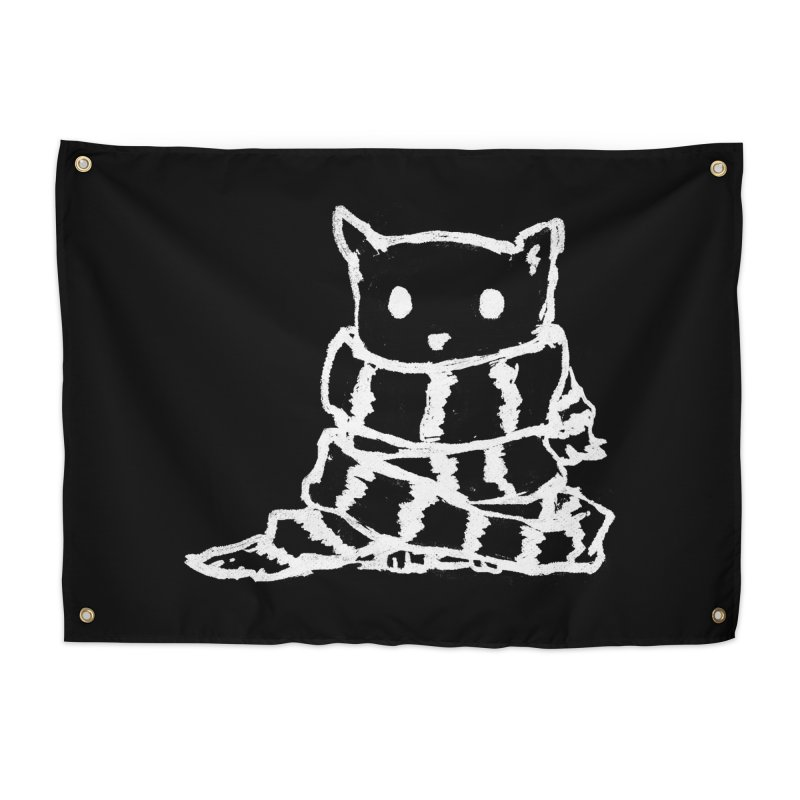 Keep Me Warm (Black) Home Tapestry by Fox Shiver's Artist Shop