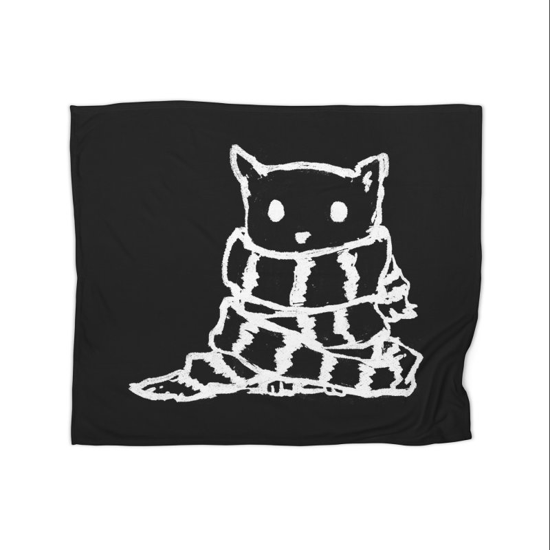 Keep Me Warm (Black) Home Blanket by Fox Shiver's Artist Shop