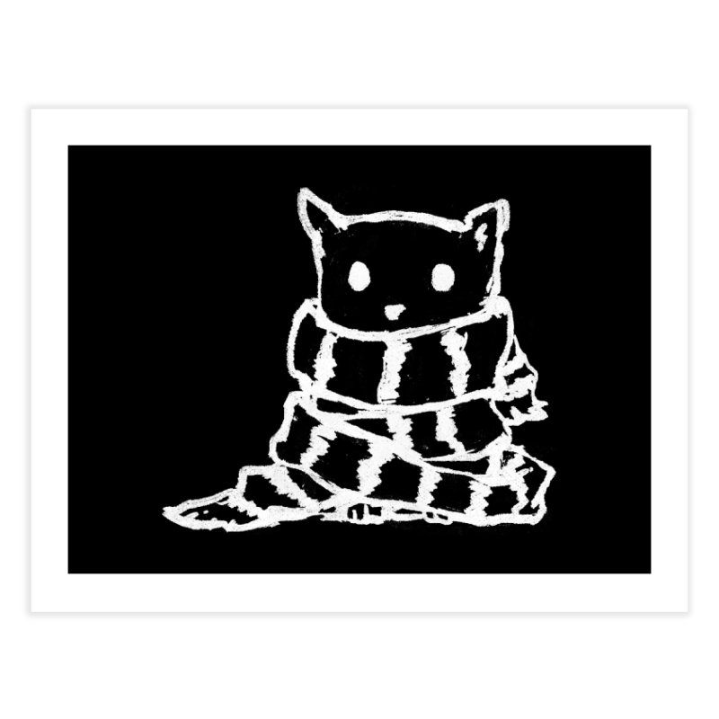 Keep Me Warm (Black) Home Fine Art Print by Fox Shiver's Artist Shop