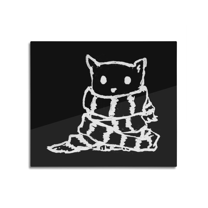 Keep Me Warm (Black) Home Mounted Aluminum Print by Fox Shiver's Artist Shop