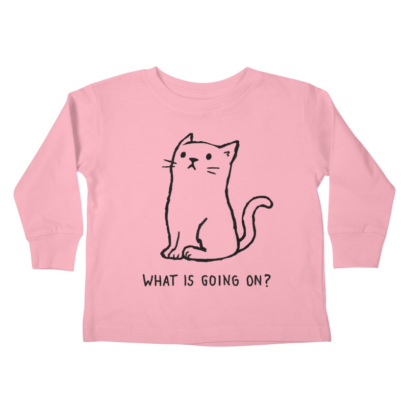 What Is Going On? Kids Toddler Longsleeve T-Shirt by Fox Shiver's Artist Shop
