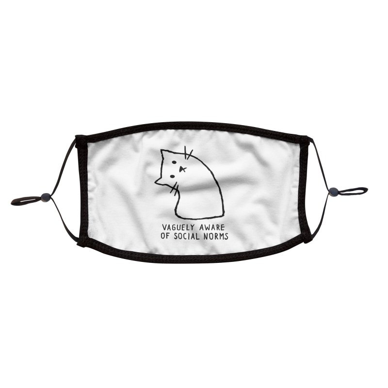 Vaguely Aware of Social Norms Accessories Face Mask by Fox Shiver