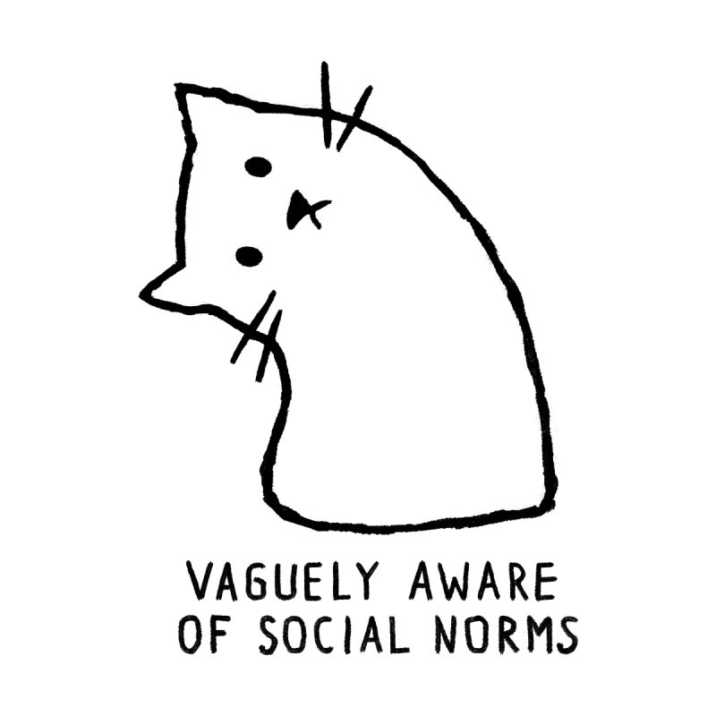 Vaguely Aware of Social Norms Accessories Sticker by Fox Shiver
