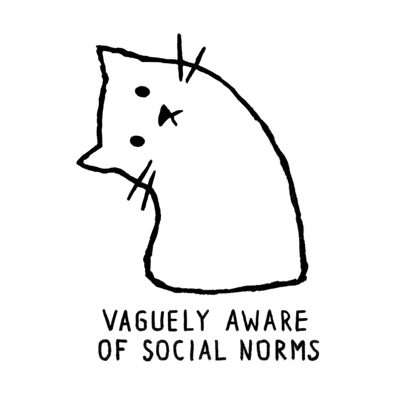 Vaguely Aware of Social Norms Kids Toddler T-Shirt by Fox Shiver