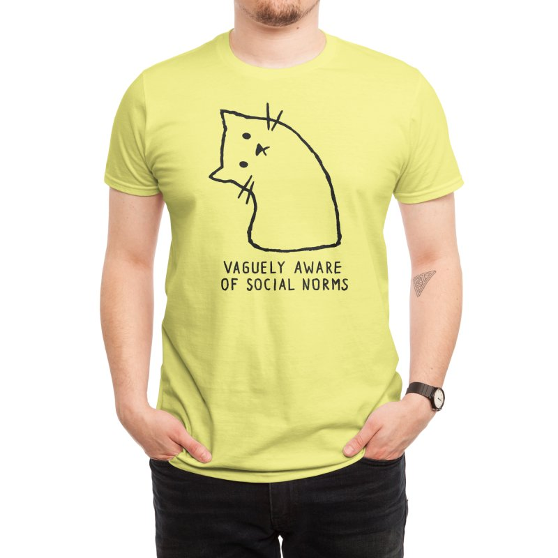 Vaguely Aware of Social Norms Men's T-Shirt by Fox Shiver