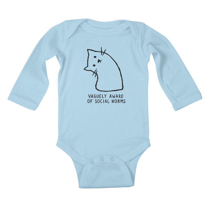 Vaguely Aware of Social Norms Kids Baby Longsleeve Bodysuit by Fox Shiver