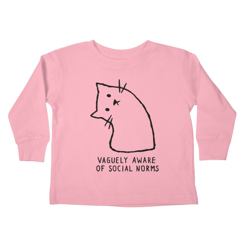 Vaguely Aware of Social Norms Kids Toddler Longsleeve T-Shirt by Fox Shiver
