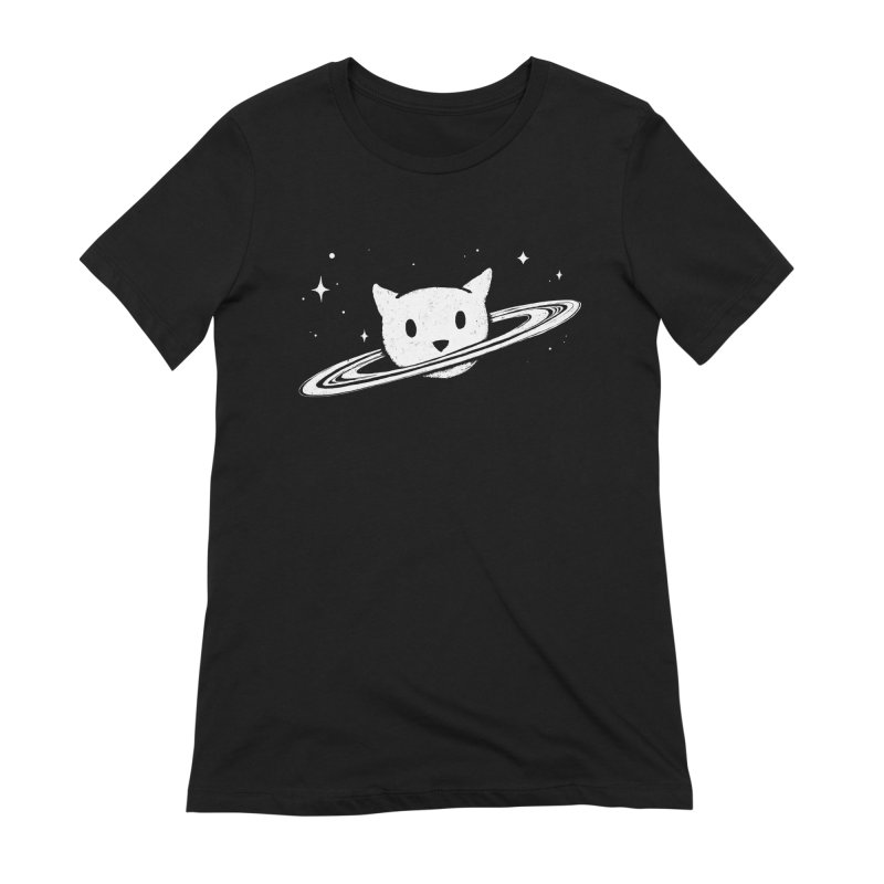 Saturn the Cat Women's Extra Soft T-Shirt by Fox Shiver's Artist Shop