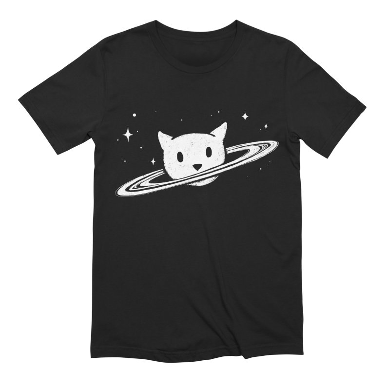 Saturn the Cat Men's Extra Soft T-Shirt by Fox Shiver's Artist Shop