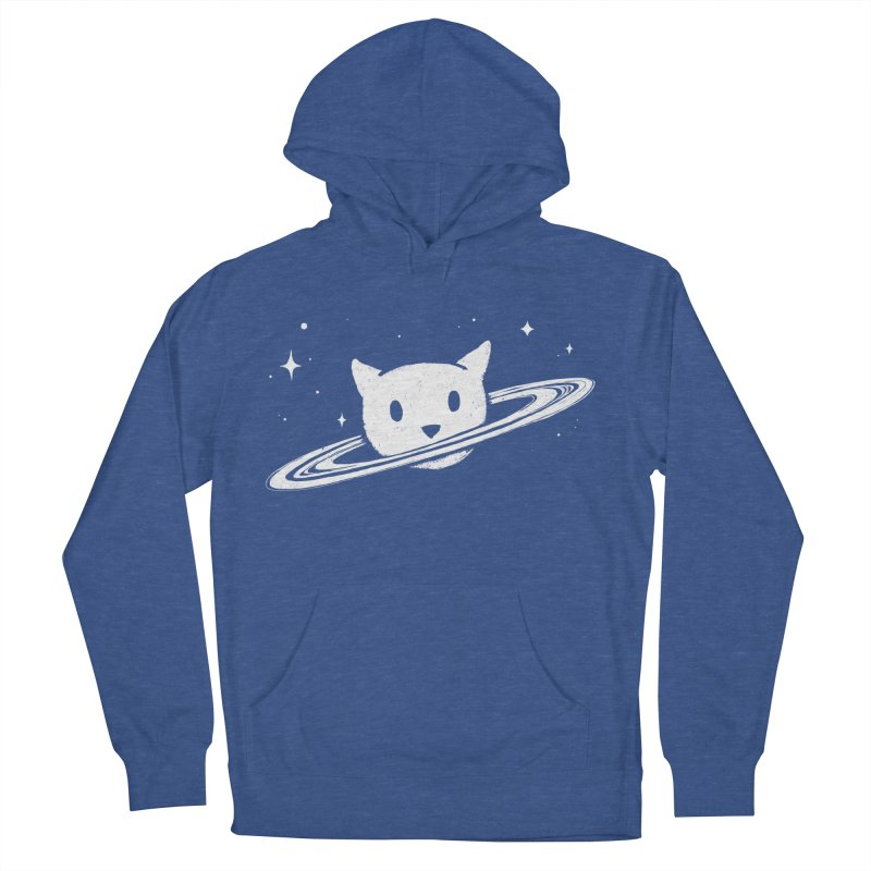 Saturn the Cat Men's French Terry Pullover Hoody by Fox Shiver's Artist Shop