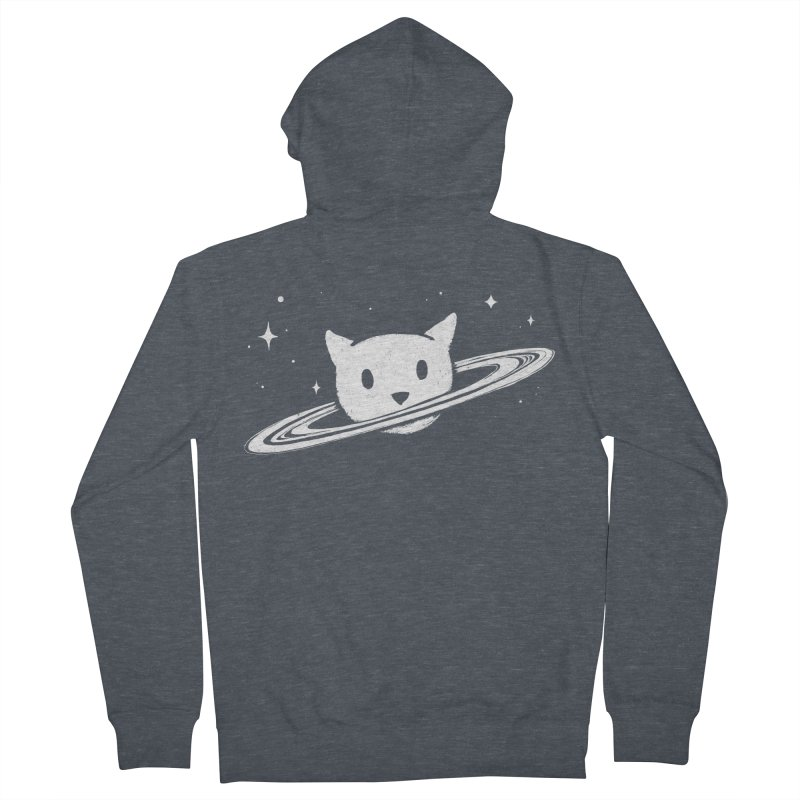 Saturn the Cat Women's French Terry Zip-Up Hoody by Fox Shiver's Artist Shop